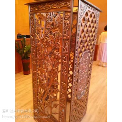 深圳厂家铜板雕刻加工 铜板几何图形雕刻镂空