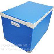 供应厂家直销蓝色周转箱 蓝色带盖骨架型周转箱-深圳德霖