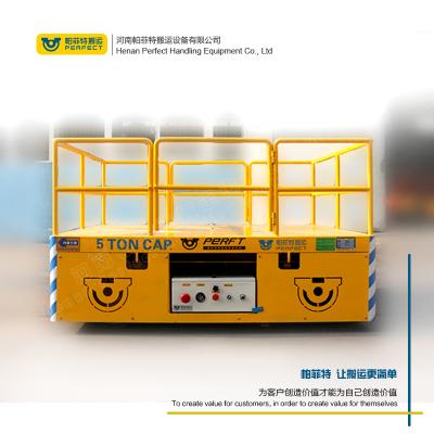 帕菲特搬运设备定制 台面大小载重吨位,聚氨酯包胶轮无轨平车 2吨工件搬运