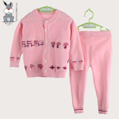宝宝针织毛衣环保全棉材质A类标准可贴身格子元素春秋季新款 婴幼儿针织毛衣厂家