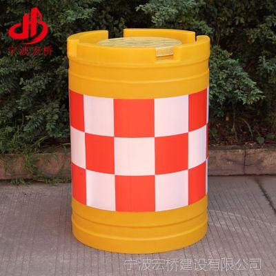 厂家直销 DW-T01滚塑大圆形防撞桶 反光交通防撞桶