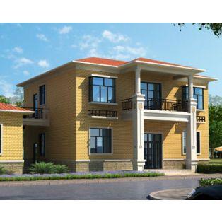 江西别墅设计AT230二层经济简洁实用别墅设计建筑图纸12.6mx9.6m