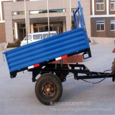 供应0.5-20吨农用拖车 四轮拖拉机运输挂车拖斗 特种运输用平板车 达丰机械质量保证支持定制