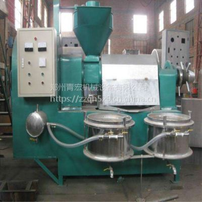青宏多功能菜籽大豆榨油机自动生熟两用螺旋榨油机