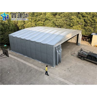青浦区移动大型工厂雨棚定做供应_布活动伸缩仓储雨棚图