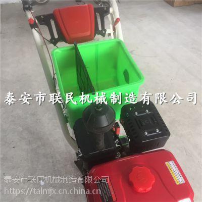 泰安联民供应手推式耘耕播种机 施肥除草多功能一体机 汽油轮式耕耘机