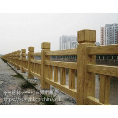许昌混凝土仿木河堤护栏