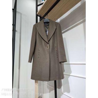 武汉大码品牌折扣女装单面呢大衣批发