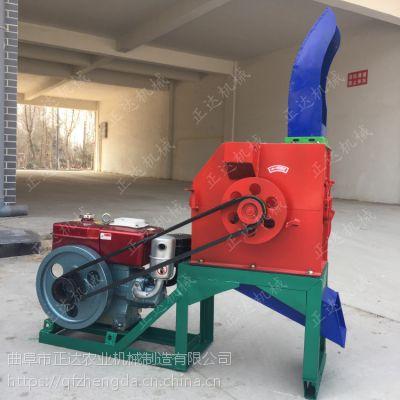 骡子秸秆铡草机 锤片式铡草机产量高