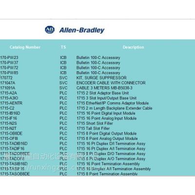 供应 AB 数字1700~1747开头系列 工控系统备件 如1746IO12DC