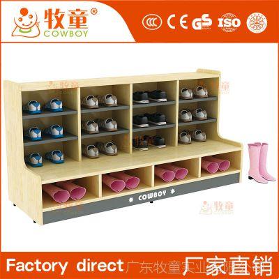 牧童幼儿园儿童实木鞋架简约格林乡村造型鞋柜定制