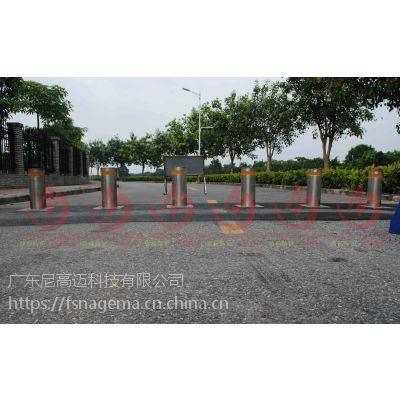 液压自动升降柱 不锈钢防护拦车柱 埋地式遥控高强度防撞路桩