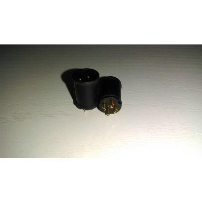 科迎法供应m12欧姆龙/omron连接器,m12针型公头3芯4芯5芯pin插座航空工业防水连接器