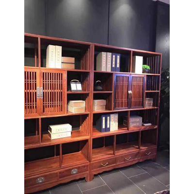 红木书架 名琢世家刺猬紫檀红木中式博古架全国批发零售