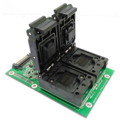 SSD测试治具 BGA152转DIP48测试夹具 SM2256K主控 翻盖弹片一拖二