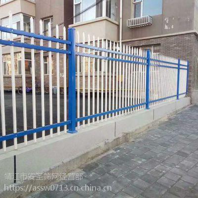江苏锌钢护栏多少钱一米 方管穿插护栏 学校 工厂 小区 组装锌钢围栏 防护墙