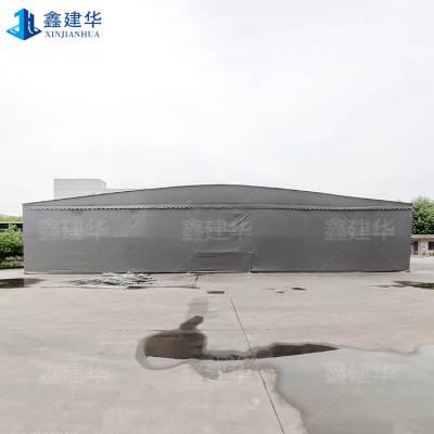 大型户外遮阳推拉蓬活动仓库篷房电动伸缩雨棚布天津生态城厂家定做