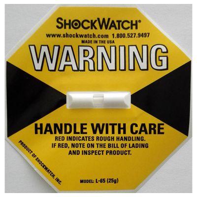 广东shockwatch防震标签25g 物流运输防震防倾斜标签