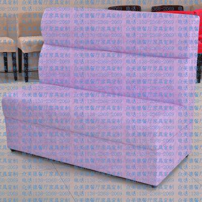 定制咖啡厅沙发,皮制音乐主题餐厅卡座,西餐厅双人沙发卡座