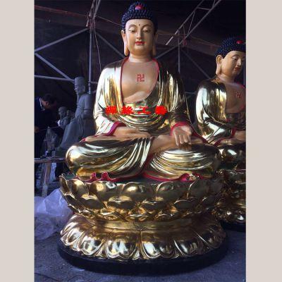 供应玻璃钢三宝佛坐像 佛像大全 苍南哪里请佛像