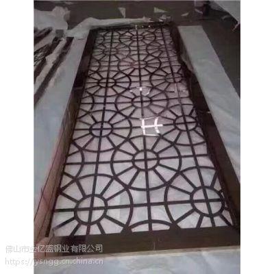武汉幕墙工程酒店装饰写字楼装饰用18年流行款不锈钢点焊玫瑰金屏风隔断厂家直销