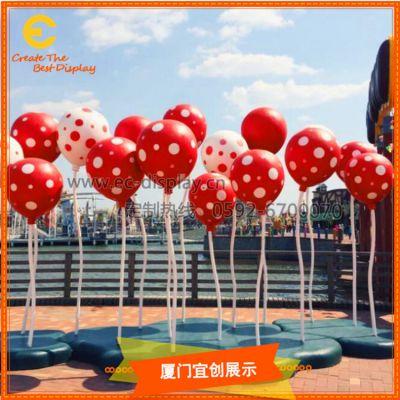 厦门宜创 商场美陈 玻璃钢 插杆气球DP 装饰橱窗道具定制