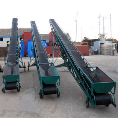 矿山抽屉式皮带输送机 兴亚砂石装卸皮带运输机图片