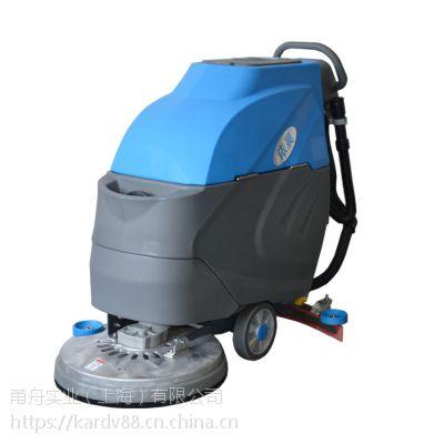 依晨充电式洗地机YZ-530,物业保洁手推式洗地机