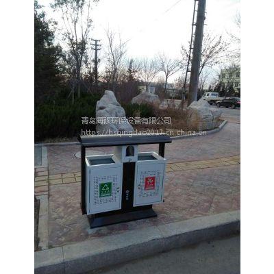 山东垃圾箱厂家 生活分类桶 镀锌板果皮箱HS-257定制款