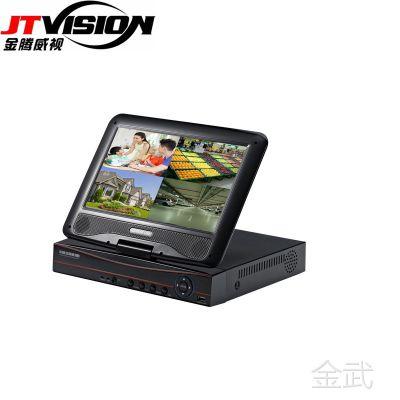 10寸带屏DVR 4路硬盘录像机AHD NVR五合一高清1080P监控一体机