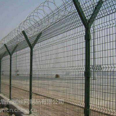 刀片刺绳机场监狱围栏网 优盾厂家机场护栏网 y型柱围栏网
