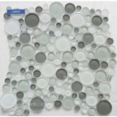 专业生产异形鹅卵石马赛克、异形水晶马赛克、自由石马赛克、不规则马赛克。款式齐全