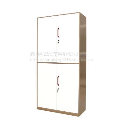洛阳办公家具通体双节柜 薄边对开门文件柜 铁皮柜档案柜 钢制办公柜