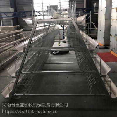 供应宏盛自动化设备 新型镀锌三层四门阶梯 蛋鸡笼 现货
