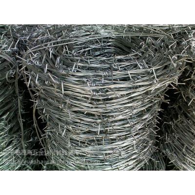 源海定做刀片网厂家直销护栏网监狱不锈钢立柱三捻铁丝刺绳