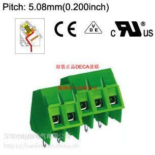 MB322-508M原装正品DECA进联间距5.08斜面欧规绿色端子