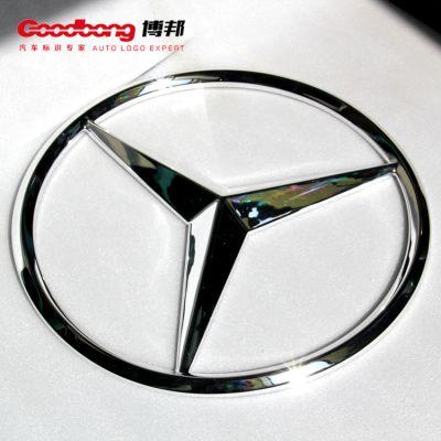奔驰4S店车标 三维立体发光标识 圆形亚克力防水车标制作厂家