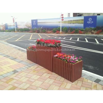 供应广州品木文化广场 公园防腐木组合式花钵 不易变形防腐木花箱