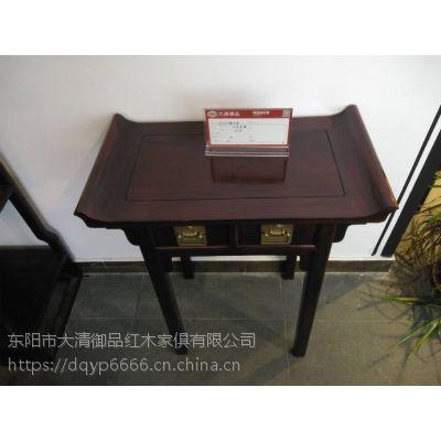 云南昆明大清御品红木家具批发厂巴里黄檀85公分翘头案单件