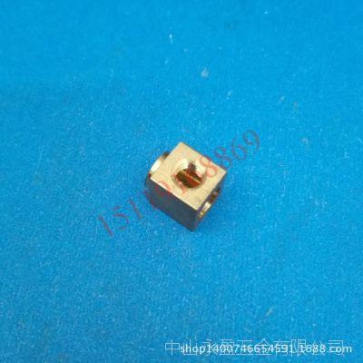 四方铜螺母 空心侧孔铜螺帽