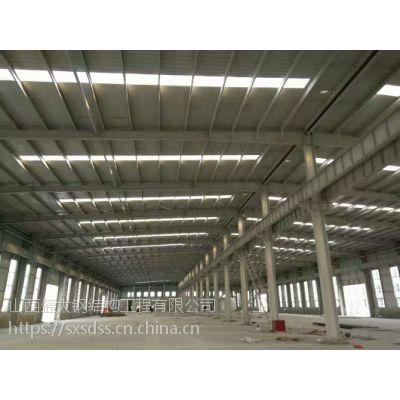 Q235长治钢结构厂房屋面施工细节_山西盛大钢构
