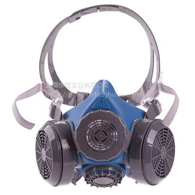 思创 防尘建材打磨硅胶口罩硅胶喷漆农药防毒硅胶半面罩 M60-1A M60-2A