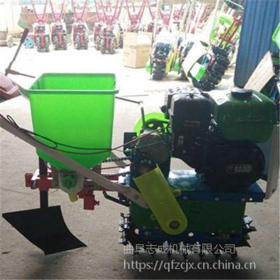 7.5马力手持式耘播机 小型家用玉米施肥机 新型小麦玉米两行播种机
