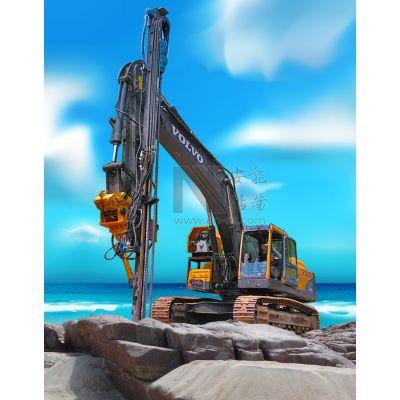 安能钻凿WG-90B挖改钻机采用进口全液压凿岩机打孔速度快