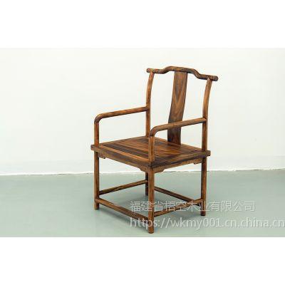 梧空木业南美胡桃木新中式主椅休闲椅