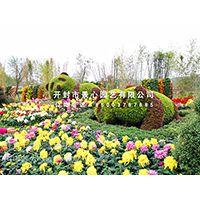 五色草雕塑厂家定制立体花坛 绿雕 绢花造型