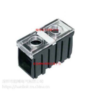 IN200K-C原装台湾MACK马克240A600V大电流黑色导轨式端子