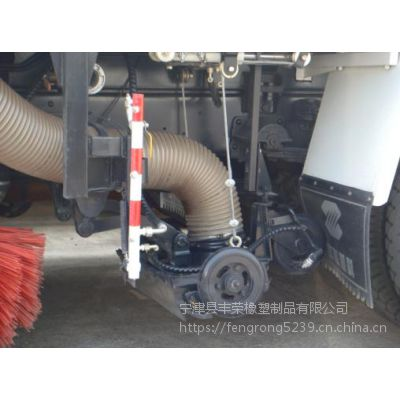 山东丰荣橡塑供应透明扫地车吸尘管耐磨PU钢丝软管 厂家直销 规格齐全