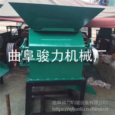 花生碎豆饼渣破碎机 食品店专用花生米破碎机 骏力供应 高粱轧胚设备