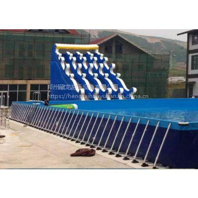 热销水上乐园支架水池滑梯 大型水池支架蓄水池 成人儿童支架水池批发